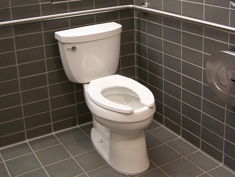A toilet in a business, which could be eligible for a LOTT rebate