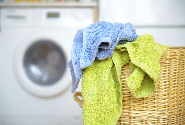 Washing machine and laundry at home