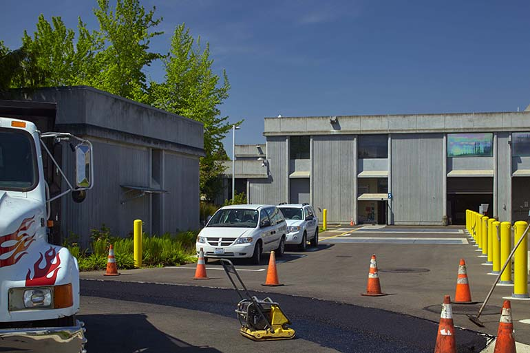 Driveway improvements project at the Budd Inlet Treatment Plant in Olympia, Washington