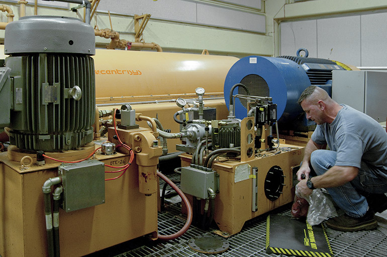 Equipment maintenance at the Budd Inlet Treatment Plant